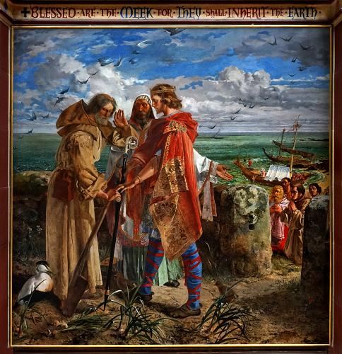 King Egfrid meets Cuthbert, William Bell Scott 1856Joyce Flower